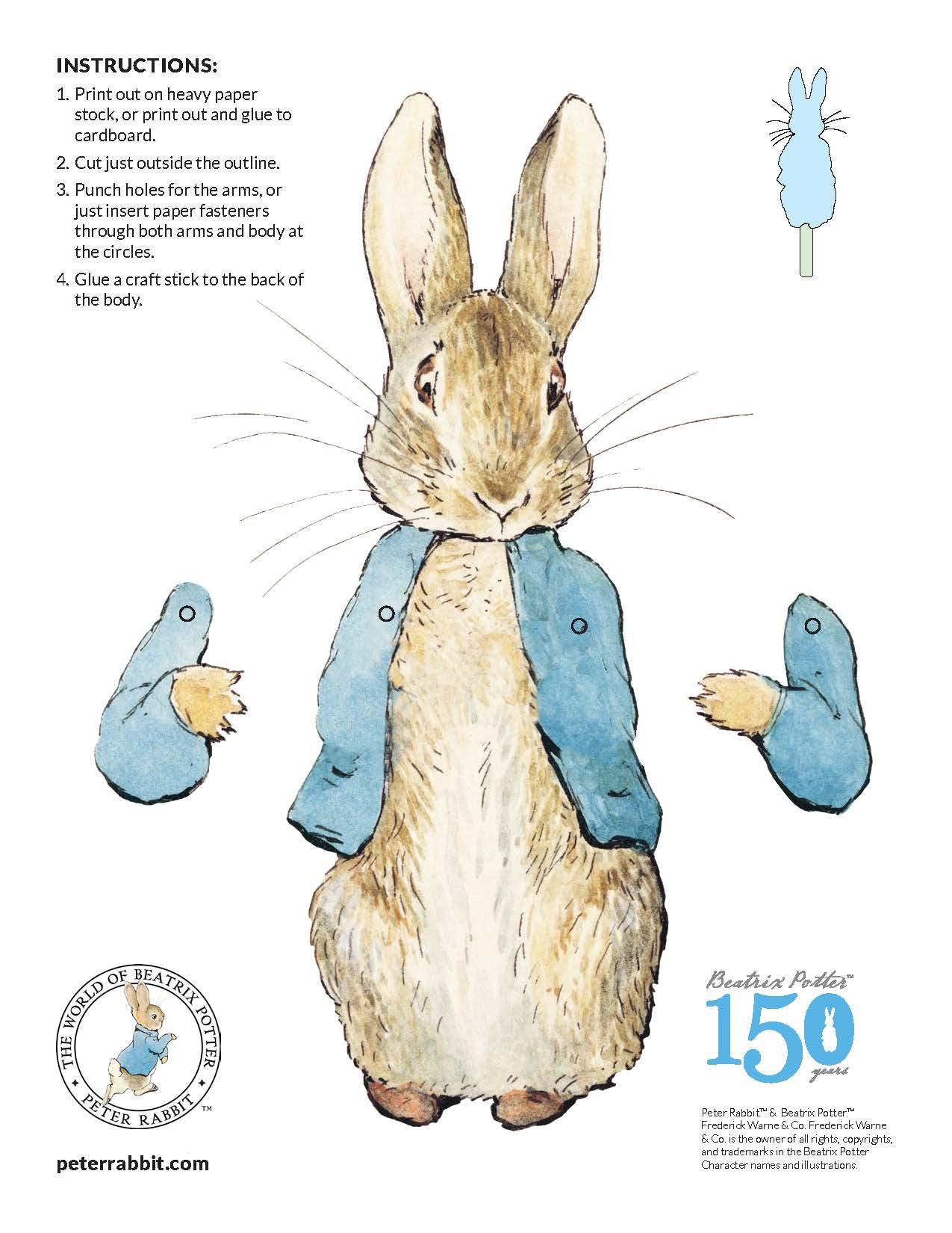 Peter-Rabbit-Photo-Contest-Puppet-Template - Enchantment Theatre Company